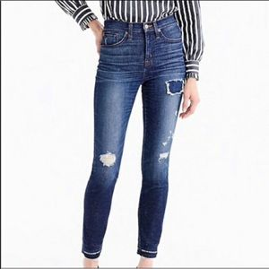 ⭐️J Crew Lookout High Rise Skinny Jeans distressed